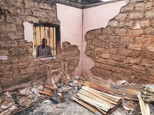 homes destroyed in Fulani attacks in southern kaduna